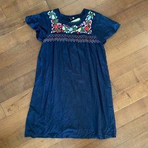 NWT MODCLOTH Navy Babydoll Dress